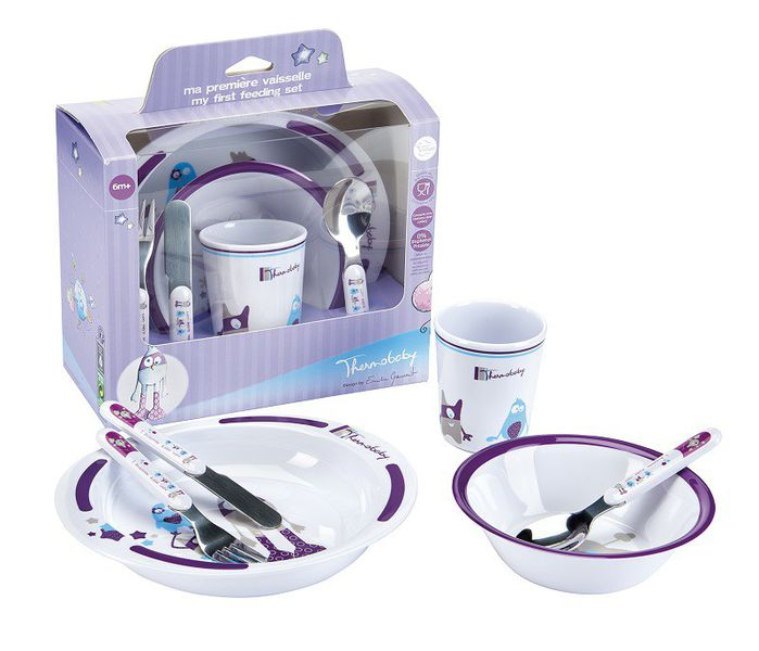 Thermobaby - Gift Box My First Feeding Set - Monster