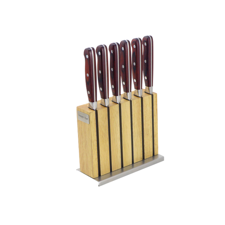 Snappy Chef 7pc Professional Steak Knife Set With Block