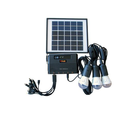 Solar Light And Cell Charger Kit Premium