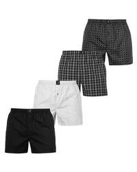 efaf1e4dde0 Kangol Men s Woven Boxer Shorts 4 Pack - Black
