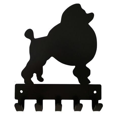 Poodle Key Rack Dog Leash Hanger With 5 Hooks Buy Online In