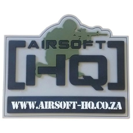 Airsoft HQ Military type PVC velcro Patch | Buy Online in South
