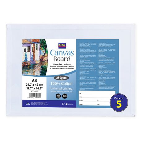 Rolfes Canvas Boards A3 - Pack of 5
