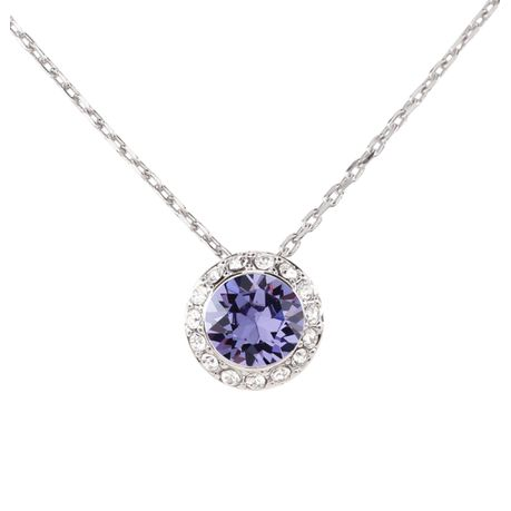 fe9c01d066318 Civetta Spark Lara Necklace with Swarovski® Tanzanite Crystal-Silver ...