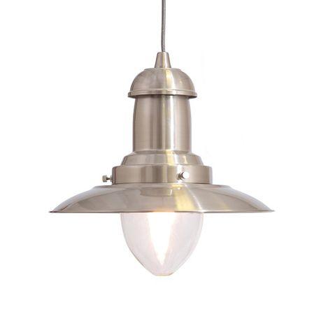 The Lighting Warehouse Pendant Fisherman 18148 Satin Silver