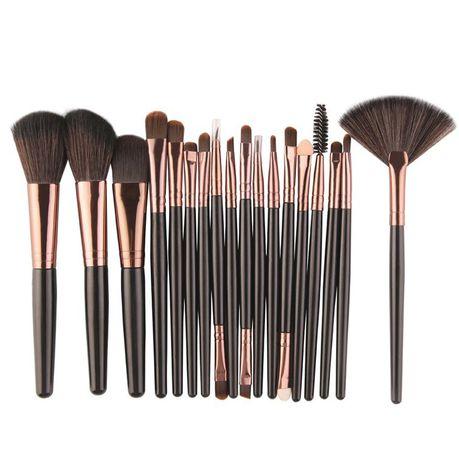 18pc Professional Mini Makeup Brush Set - Black