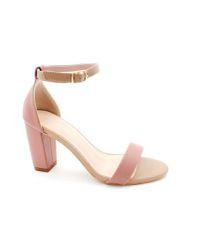 5d845191ba3 Elysia s Ankle Strap Dark Nude Block Heel