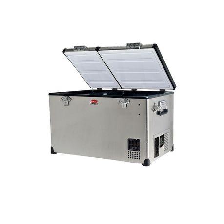 SnoMaster 56L Dual Compartment 12V/220V Fridge Freezer - Silver