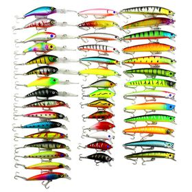 Hengjia 43pcs Minnow Hard Bait Lure (6 Models)