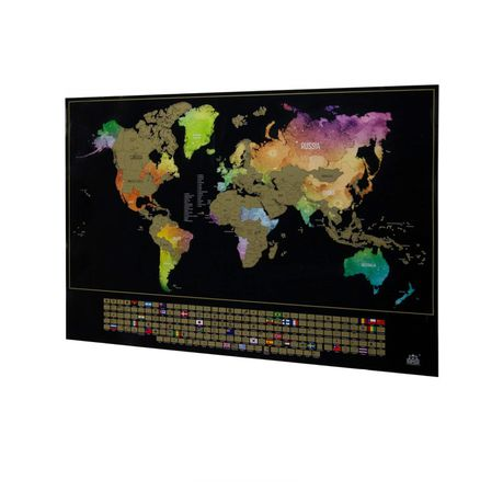 scratch map south africa World Travel Scratch Map Buy Online In South Africa Takealot Com scratch map south africa