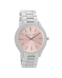 5cd6c546c885 Michael Kors Runway Silver with Pink Face Ladies Watch (Parallel Import)