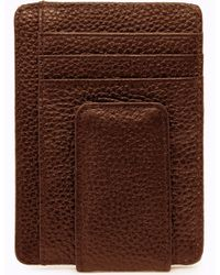 3964e7a2e7d3 Genuine Leather Minimalist Wallet With Magnetic Money Clip RFID Blocking