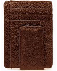 2354eda8ca21 Genuine Leather Minimalist Wallet With Magnetic Money Clip RFID Blocking