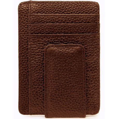 ef801a73e04b33 Genuine Leather Minimalist Wallet With Magnetic Money Clip RFID Blocking |  Buy Online in South Africa | takealot.com