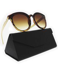 22738857d679 Skone Bahamas Tortoise Shell Smokey Brown UV400 Bamboo Sunglasses