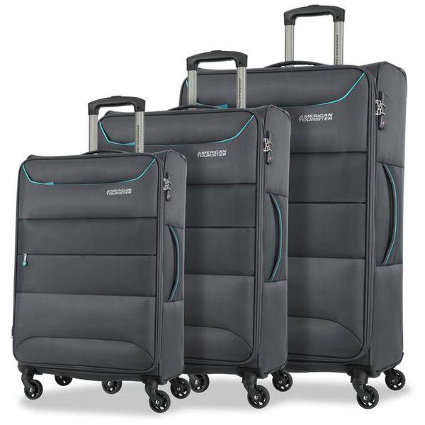 American Tourister Atlantis 3 Piece - Grey