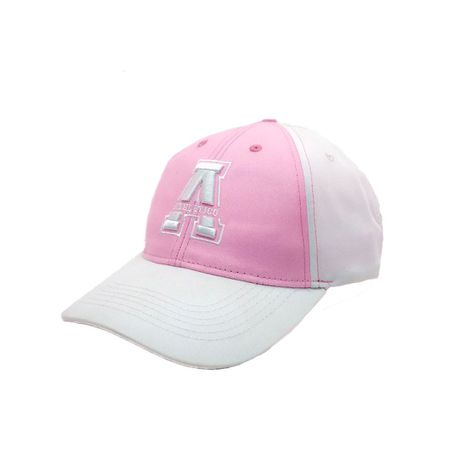 Athletico Snapback Curved Peak Cotton Cap (Pink/White)