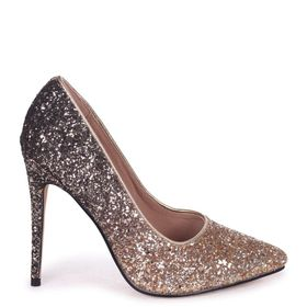 b70b14971be Linzi Ladies ASTON Classic Pointed Court Heels - Gold Glitter