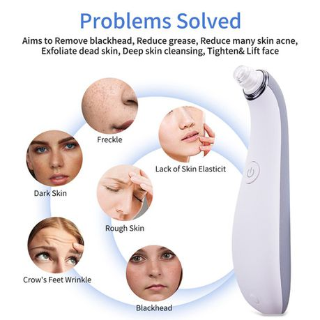 Blackhead Remover Electric Facial Pore Cleaner with 4