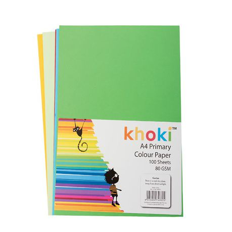A4 80gsm Coloured Paper x 100 Sheets