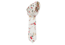 JCclick Shop, Peter Skinny Floral Tie - Cream With Floral Print