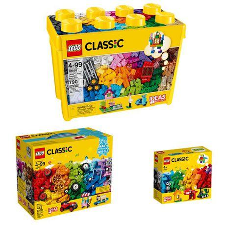 LEGO CLASSIC Brick Box & Ideas Bundle - 4+ Years - 11001 & 10698 & 10715