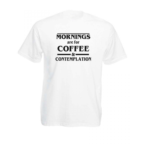 Juicebubble Coffee And Contemplation Mens T Shirt White
