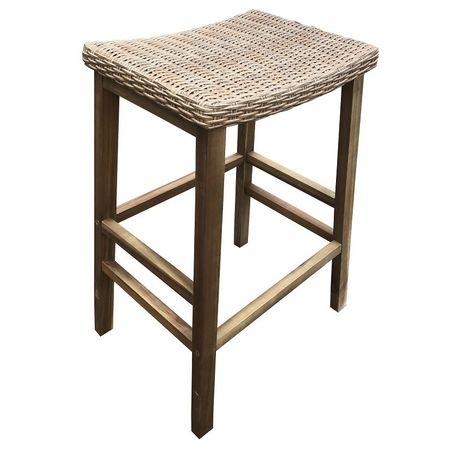 Zen Bar Stool Wicker Seat Flat Pack