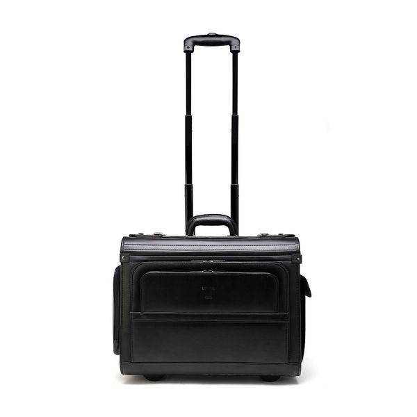 Tosca Leather Pilot Case - 2 Wheels