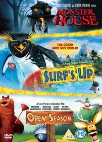 Surf's Up/Open Season/Monster House - (Import DVD)