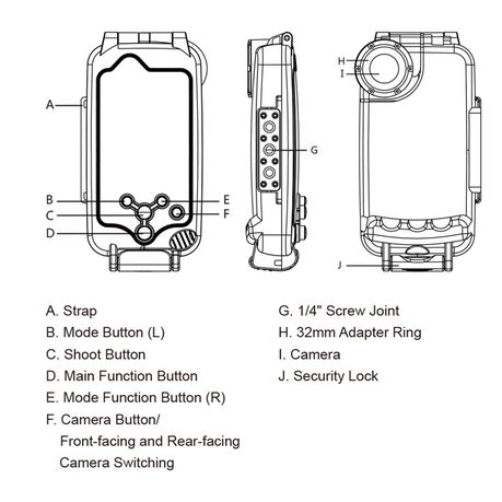We Love Gadgets Waterproof Underwater Cover iPhone 8 Plus & 7 Plus