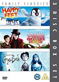 Happy Feet / Charlie and the Chocolate Factory /Corpse Bride (DVD)