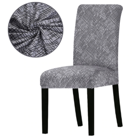 Stylish Elasticated Dining Room Chair Cover Set Of 2 Zigzag Design Buy Online In South Africa Takealot Com