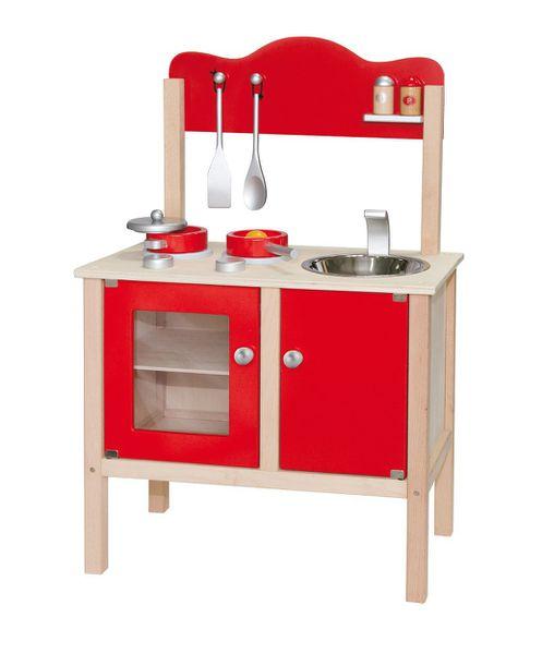 VIGA woodenKitchen w/Accessories- Red