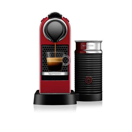 Nespresso Citiz & Milk Machine - Cherry Red