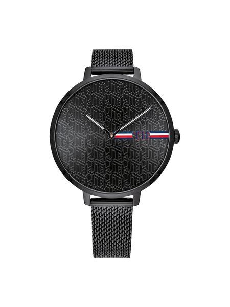 Tommy Hilfiger Female Alexa-Black Dial-Black Case-IP Mesh Bracelet