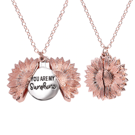 You Are My Sunshine Sunflower Pendant Necklace Rose Gold Buy Online In South Africa Takealot Com Check out our sunflower necklace selection for the very best in unique or custom, handmade pieces from our necklaces shops. you are my sunshine sunflower pendant necklace rose gold