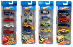 Hot Wheels - 5 Car Gift Packs *Assorted - Colours and Styles may vary*