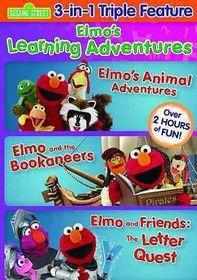 Elmo's Learning Adventures Triple Fea - (Region 1 Import DVD)