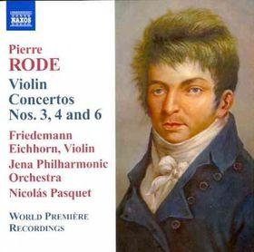 Rode / Jena Philharmonic Orch / Pasquet - Violin Concertos Nos.3, 4 & 6 (CD)