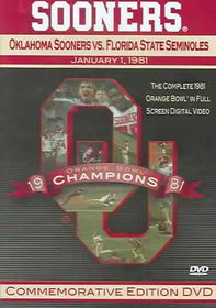 1981 Orange BowlOklahoma Sooners vs. Florida State Seminoles - (Region 1 Import DVD)