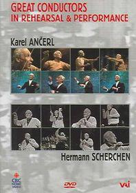 Great Conductors in Rehearsal & Performance - Karl Ancerl/Herman Scherchen - (Region 1 Import DVD)