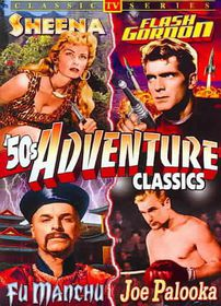 50's TV Adventure Classics: Sheena Queen of the Jungle/Flash Gordon/JOe Palooka and the Adventures of Fu Manchu - (Region 1 Import DVD)