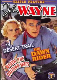 John Wayne Triple Feature Vol. 5: Desert Trail/Dawn Rider/'Neath the Arizona Skies - (Region 1 Import DVD)