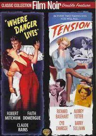 Where Danger Lives/Tension - (Region 1 Import DVD)