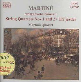 Martinu Quartet - String Quartets - Vol.1 (CD)