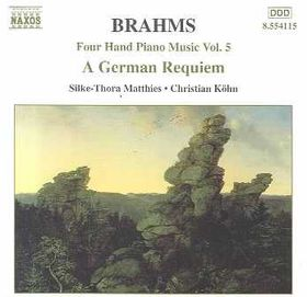 Matthies / Kohn - German Requiem Piano 4 Hands (CD)