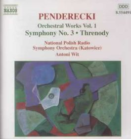 National Polish Radio Symphony Orchestra - Symphony No. 3 / Hiroshima Threnody (CD)