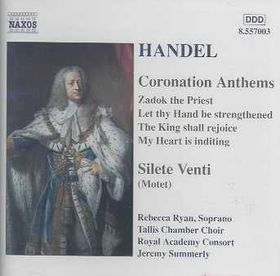 Summerly - Handel: Coronation Anthems (CD)