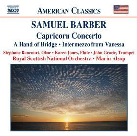 Barber - Capricorn Concerto (CD)